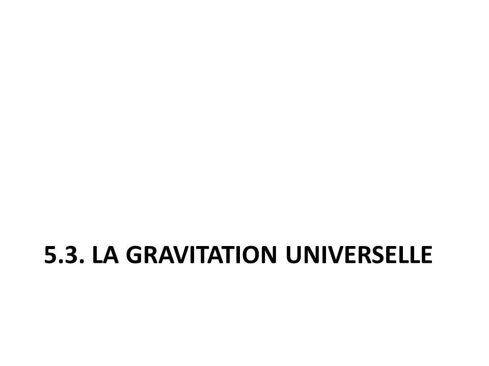 5.3. La gravitation universelle