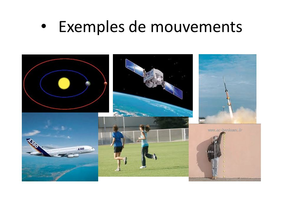 Exemples de mouvements