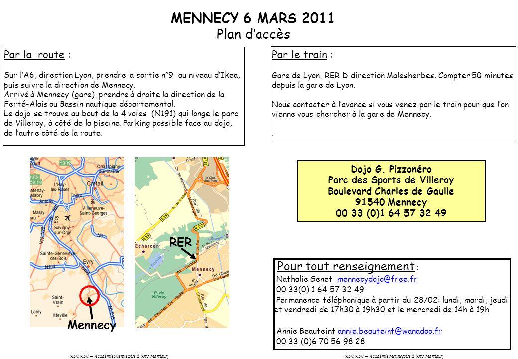 MENNECY 6 MARS 2011 Plan d'accès