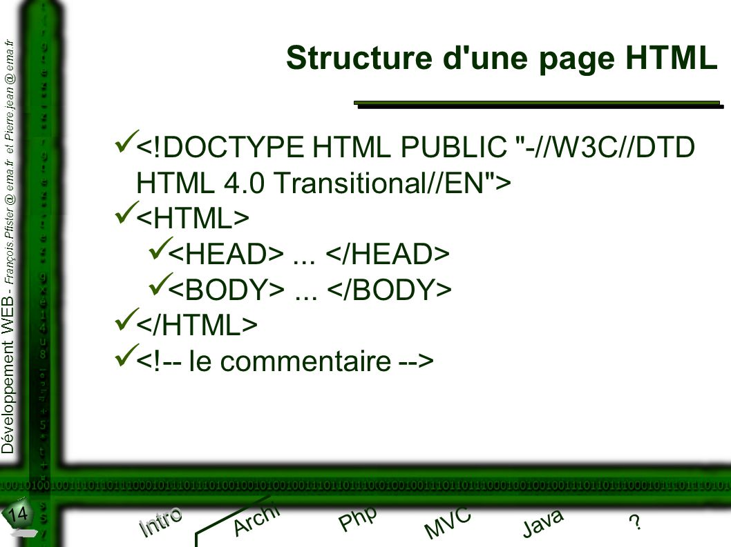 Structure d une page HTML