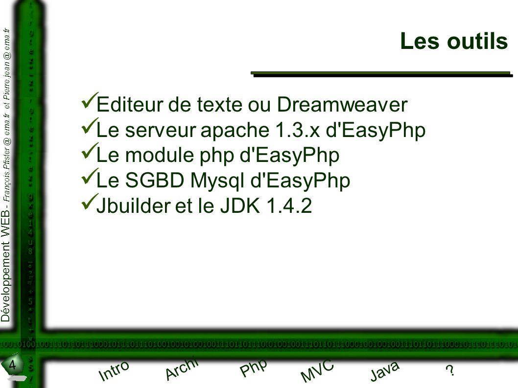 Les outils Editeur de texte ou Dreamweaver
