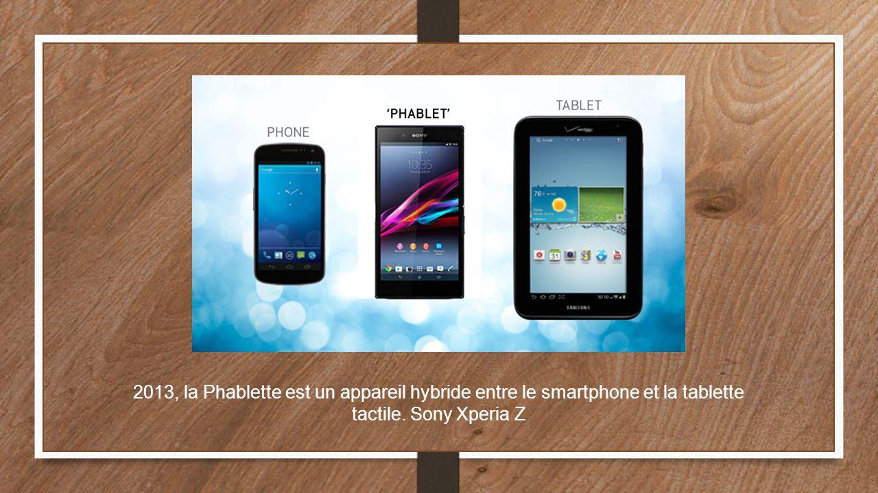 2013, la Phablette est un appareil hybride entre le smartphone et la tablette tactile. Sony Xperia Z