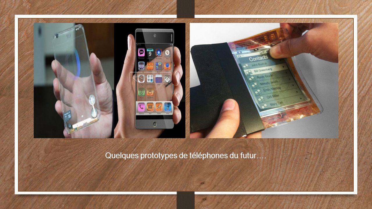 Quelques prototypes de téléphones du futur….
