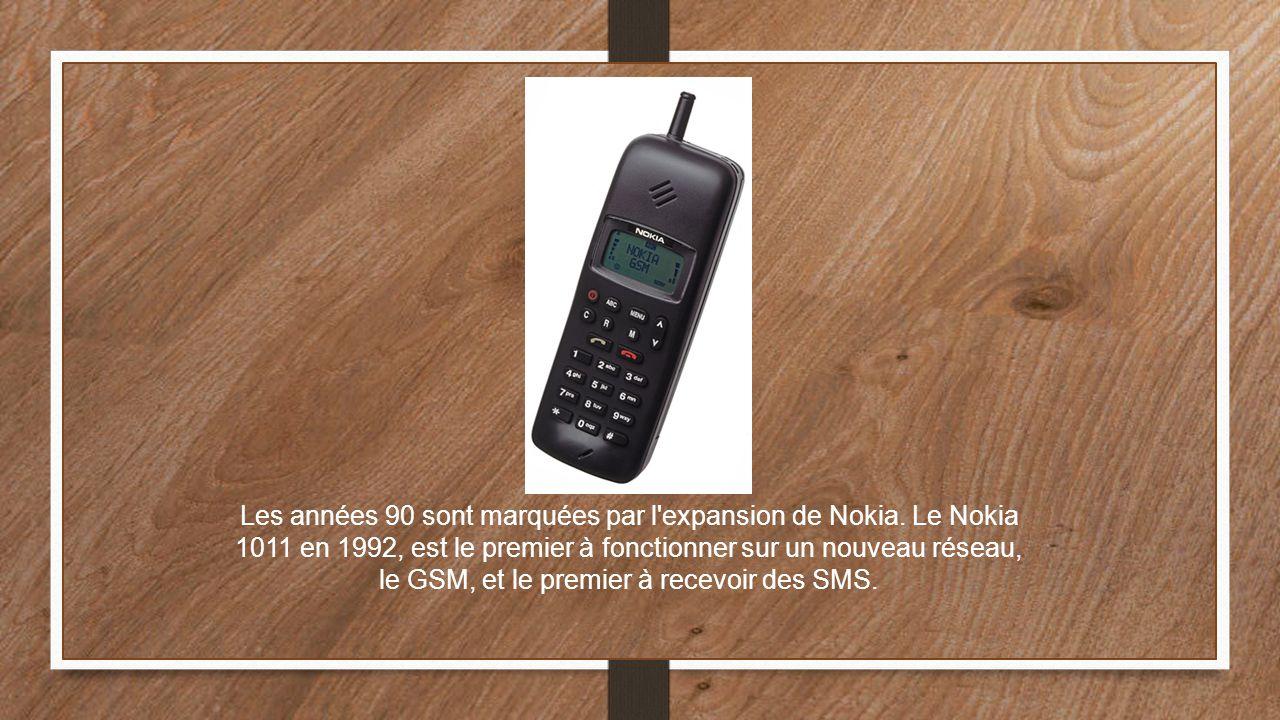 Les années 90 sont marquées par l expansion de Nokia