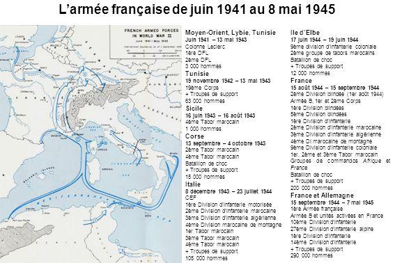 L'armée française de juin 1941 au 8 mai 1945
