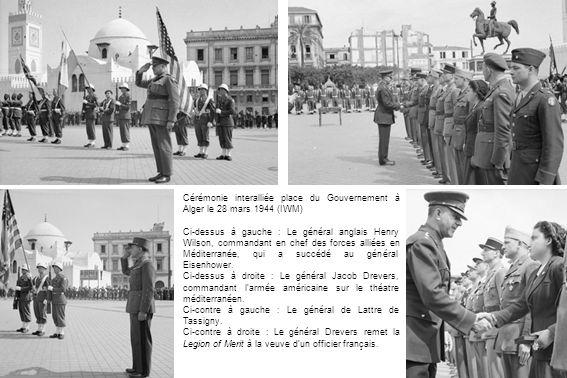 Cérémonie interalliée place du Gouvernement à Alger le 28 mars 1944 (IWM)
