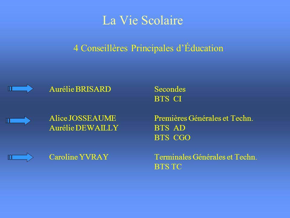 4 Conseillères Principales d'Éducation