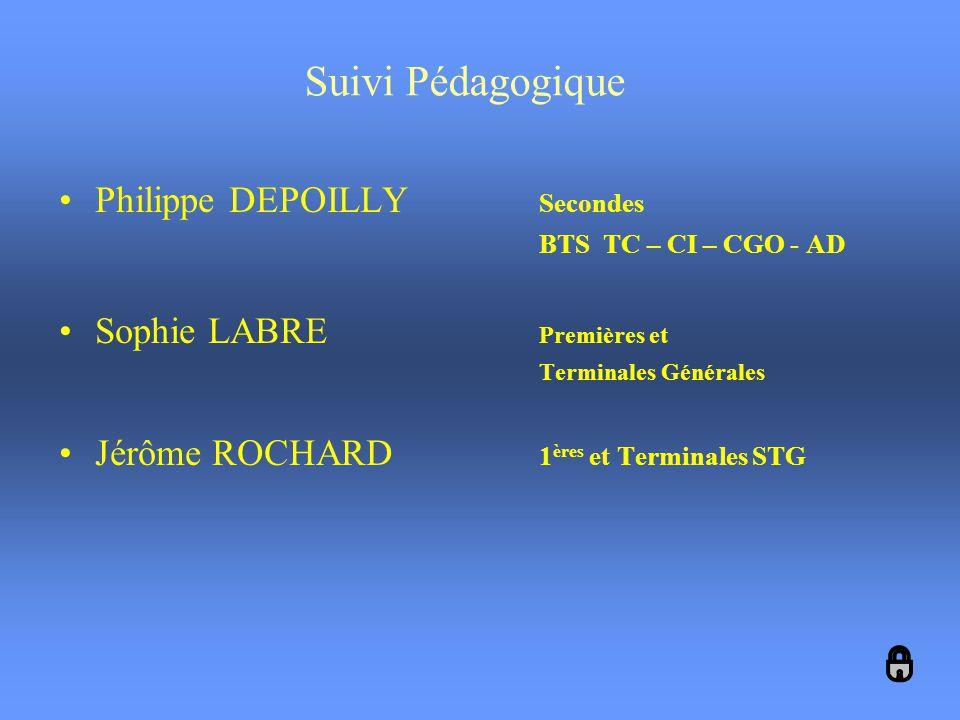 Suivi Pédagogique Philippe DEPOILLY Secondes Sophie LABRE Premières et