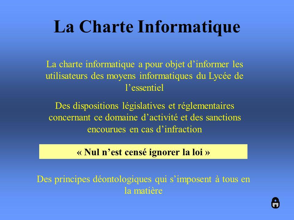 La Charte Informatique