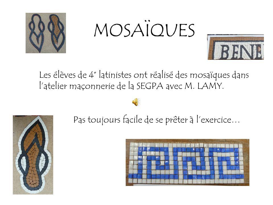 MOSAÏQUES Les élèves de 4° latinistes ont réalisé des mosaïques dans