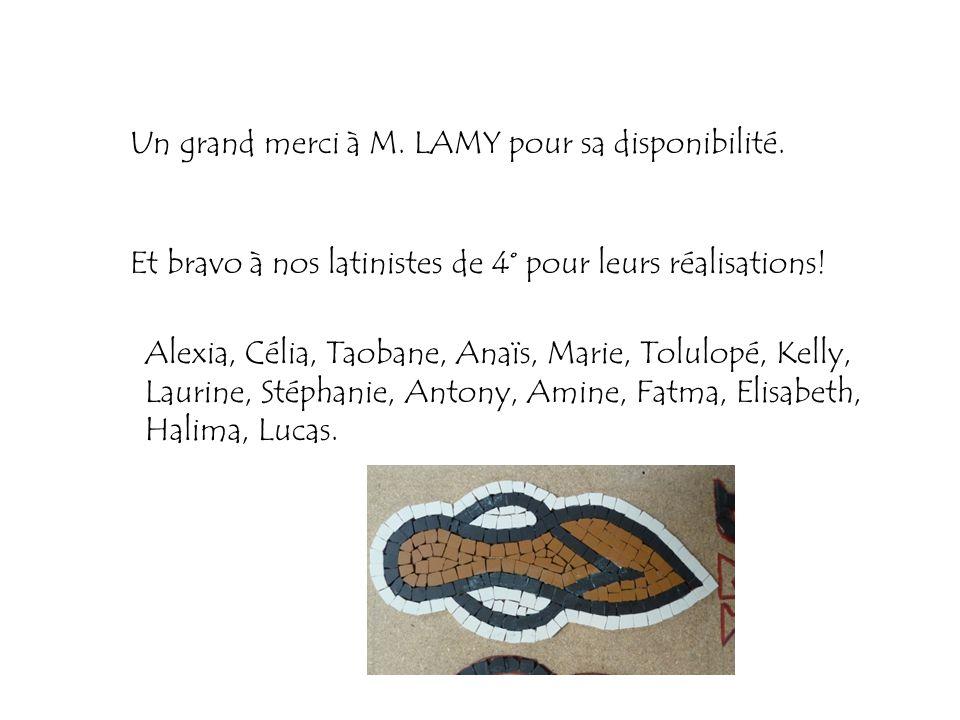 Un grand merci à M. LAMY pour sa disponibilité.