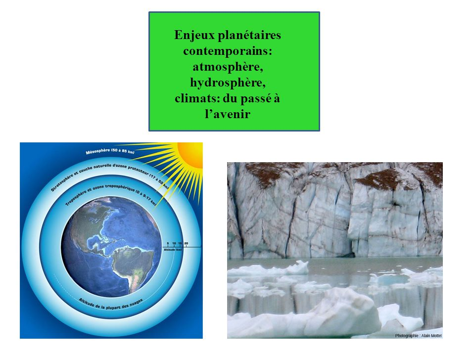 Enjeux planétaires contemporains: atmosphère, hydrosphère, climats: du passé à l'avenir