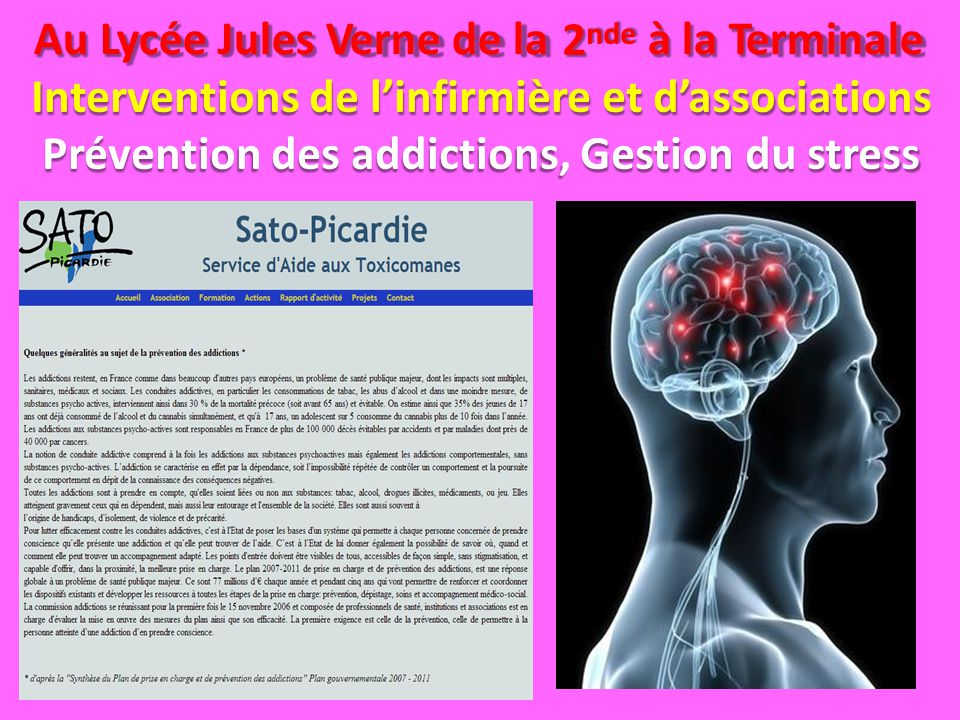 Prévention des addictions, Gestion du stress