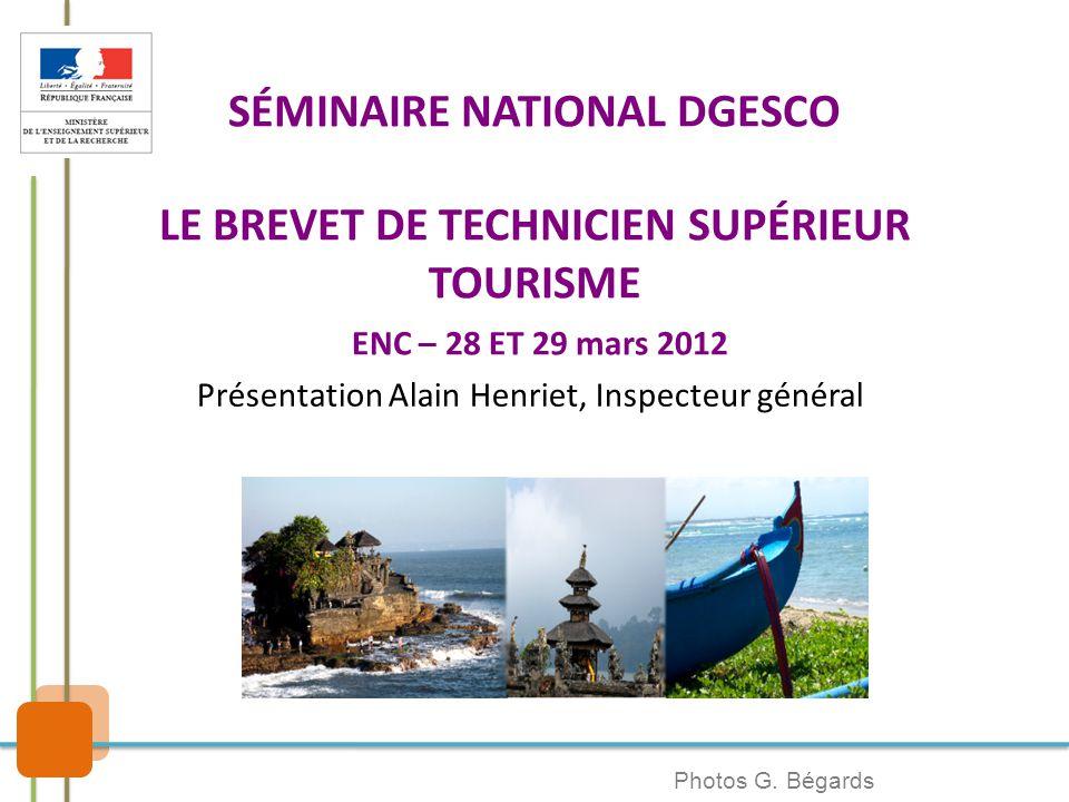 Présentation Alain Henriet, Inspecteur général