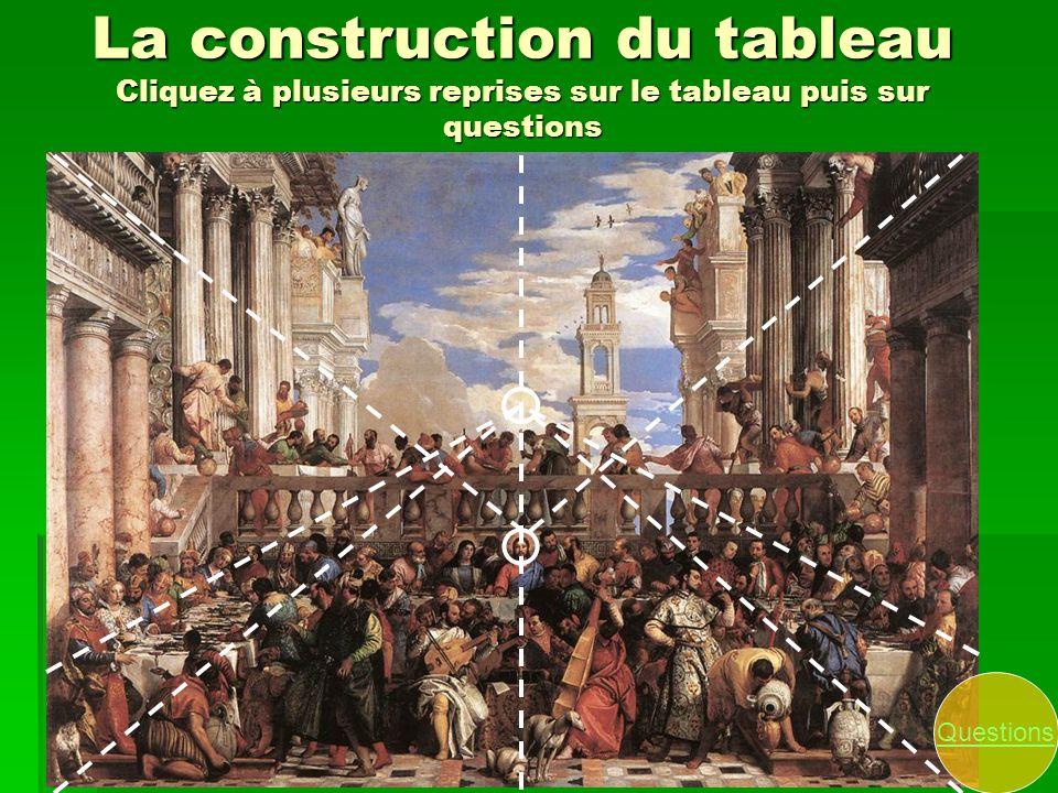 La construction du tableau Cliquez à plusieurs reprises sur le tableau puis sur questions