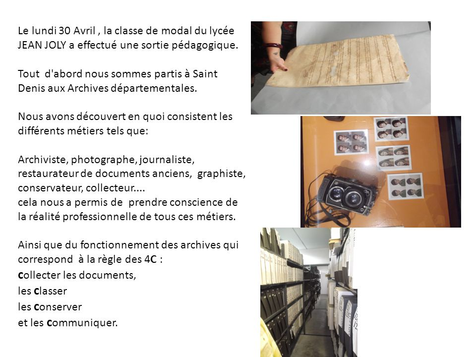 collecter les documents,