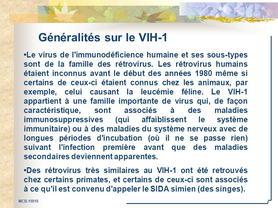 Généralités sur le VIH-1