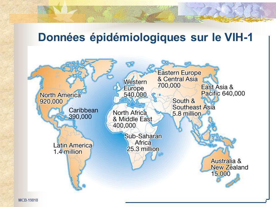Données épidémiologiques sur le VIH-1