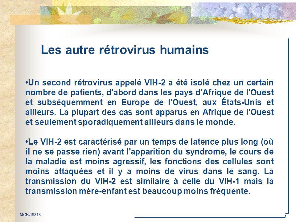 Les autre rétrovirus humains