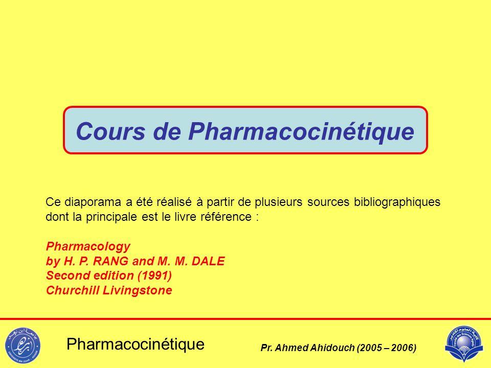 Cours de Pharmacocinétique