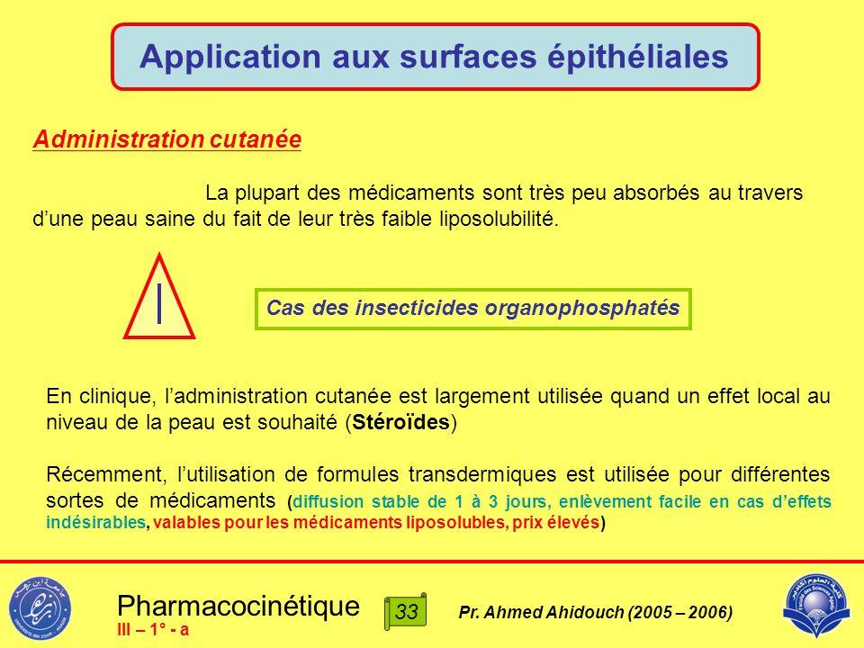 Application aux surfaces épithéliales
