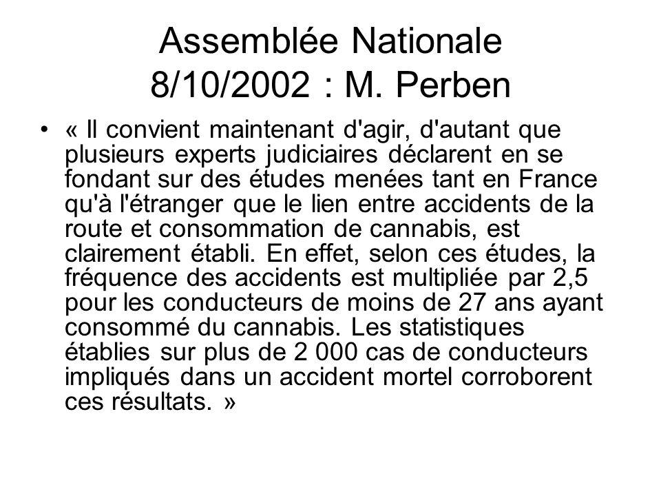 Assemblée Nationale 8/10/2002 : M. Perben