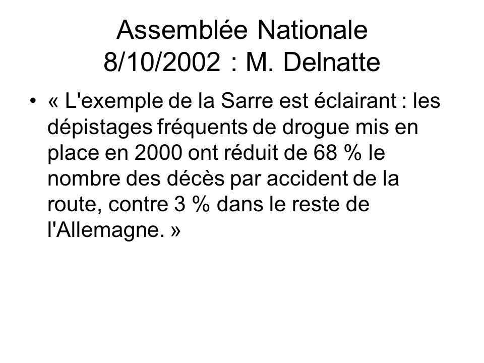 Assemblée Nationale 8/10/2002 : M. Delnatte