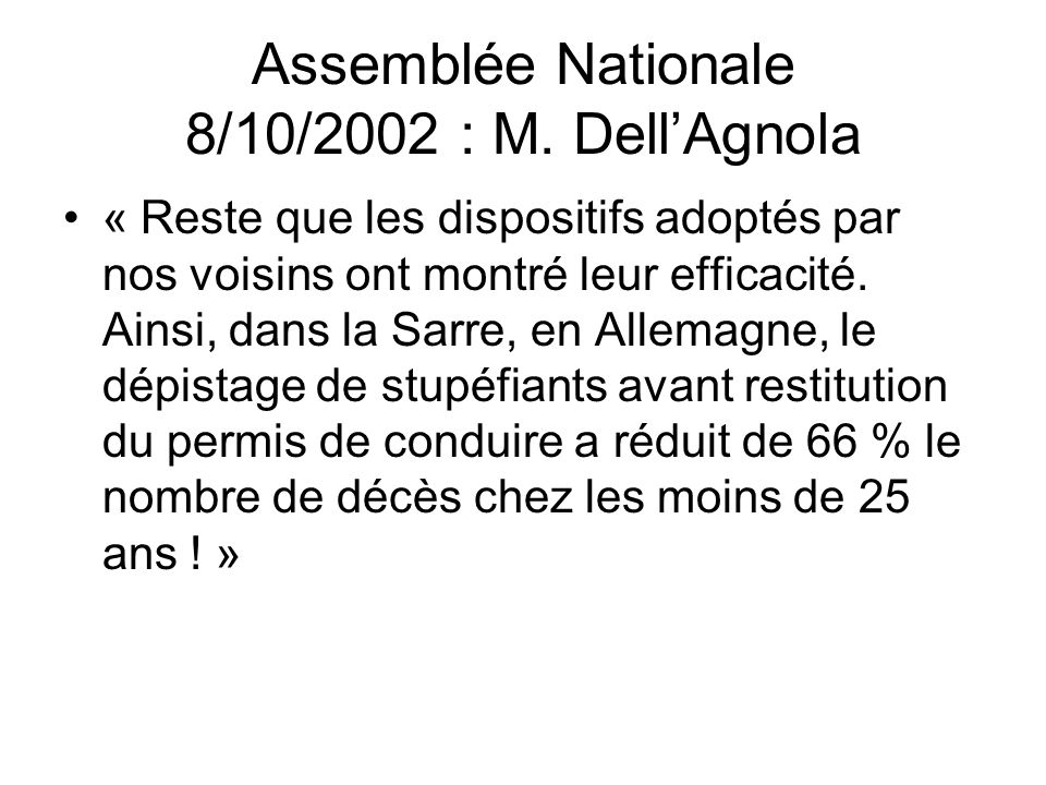 Assemblée Nationale 8/10/2002 : M. Dell'Agnola