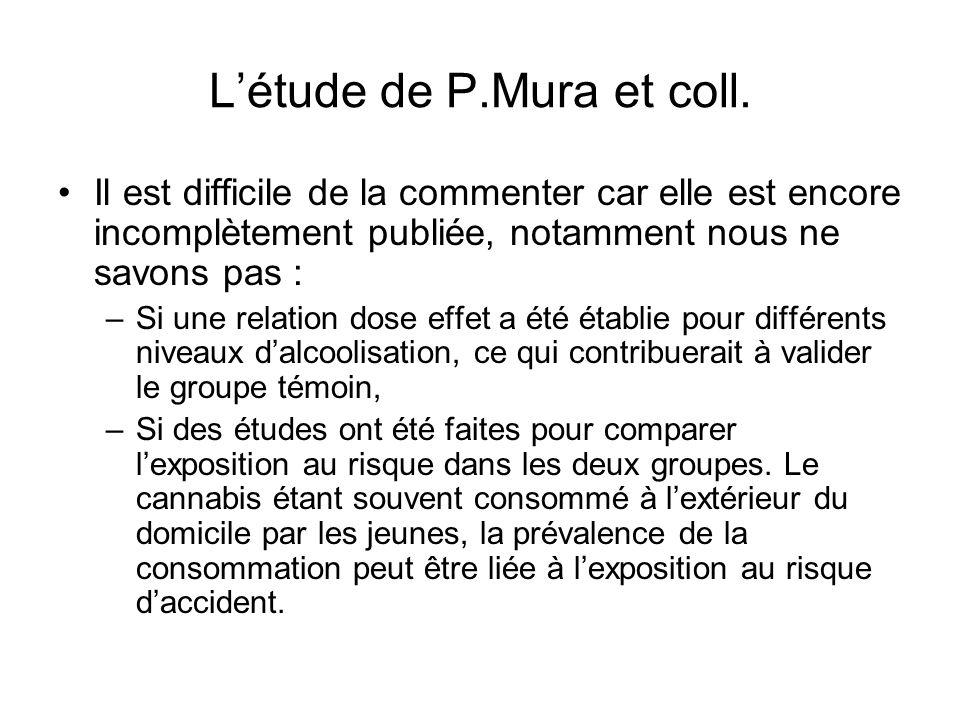 L'étude de P.Mura et coll.