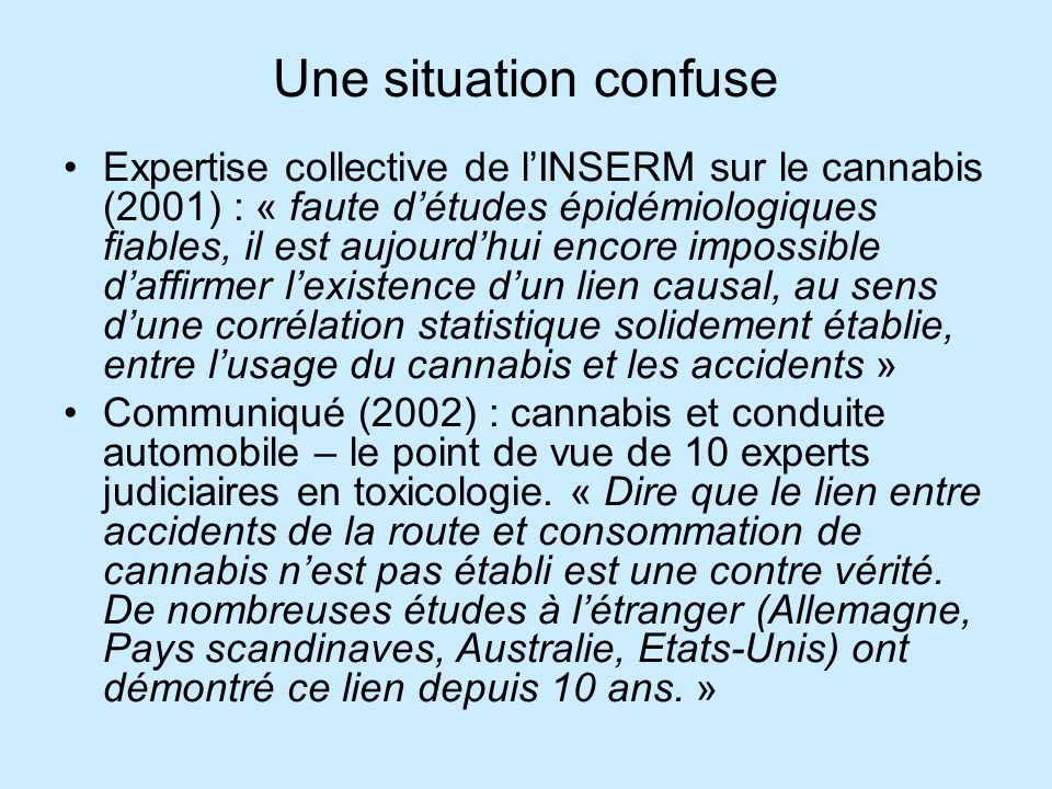 Une situation confuse