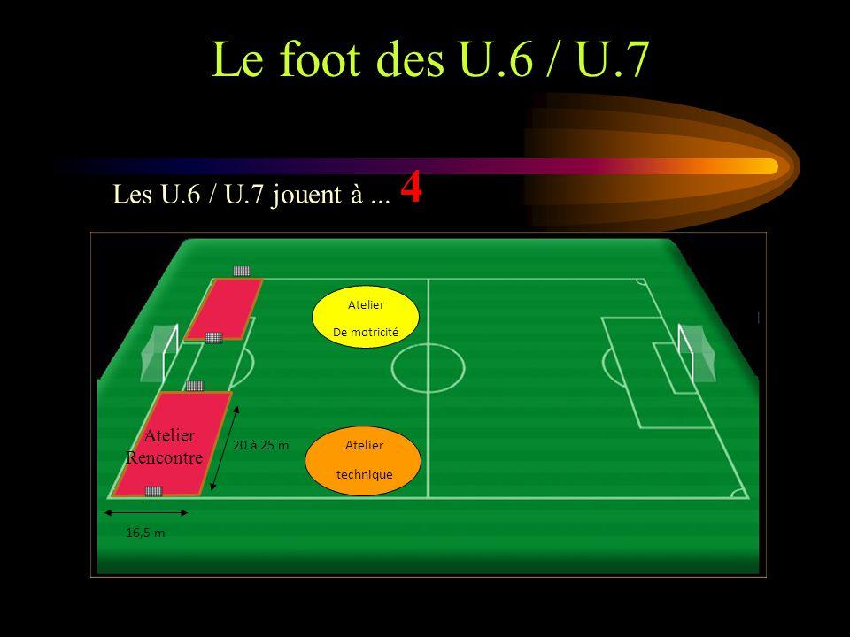 Le foot des U.6 / U.7 4 Les U.6 / U.7 jouent à ... Atelier Rencontre