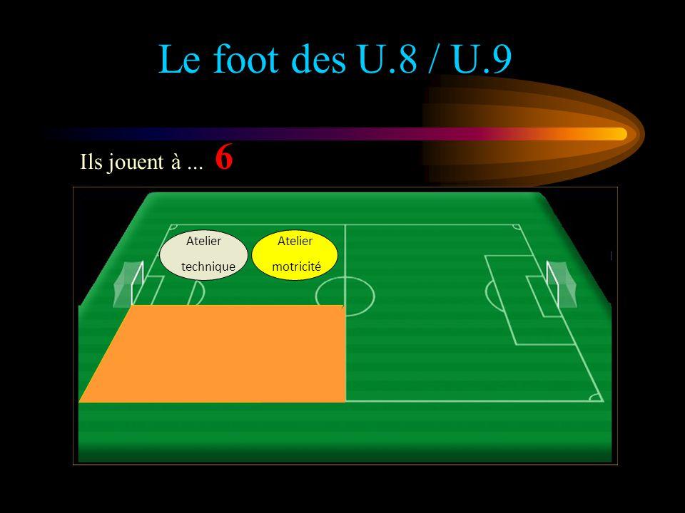 Le foot des U.8 / U.9 6 Ils jouent à ... Atelier technique Atelier