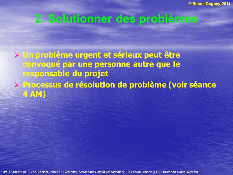 2. Solutionner des problèmes