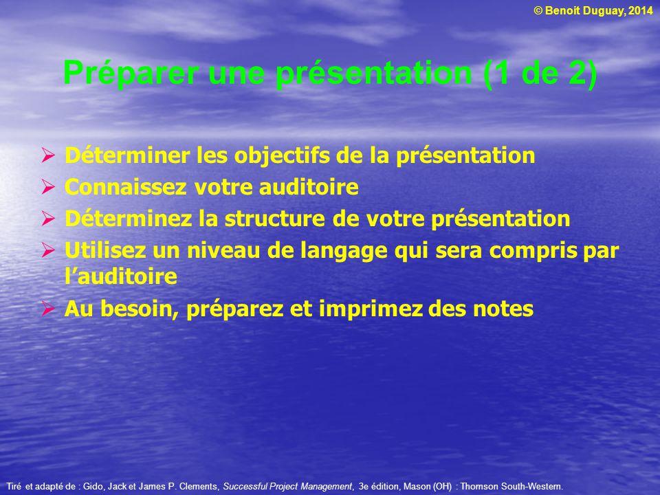Préparer une présentation (1 de 2)