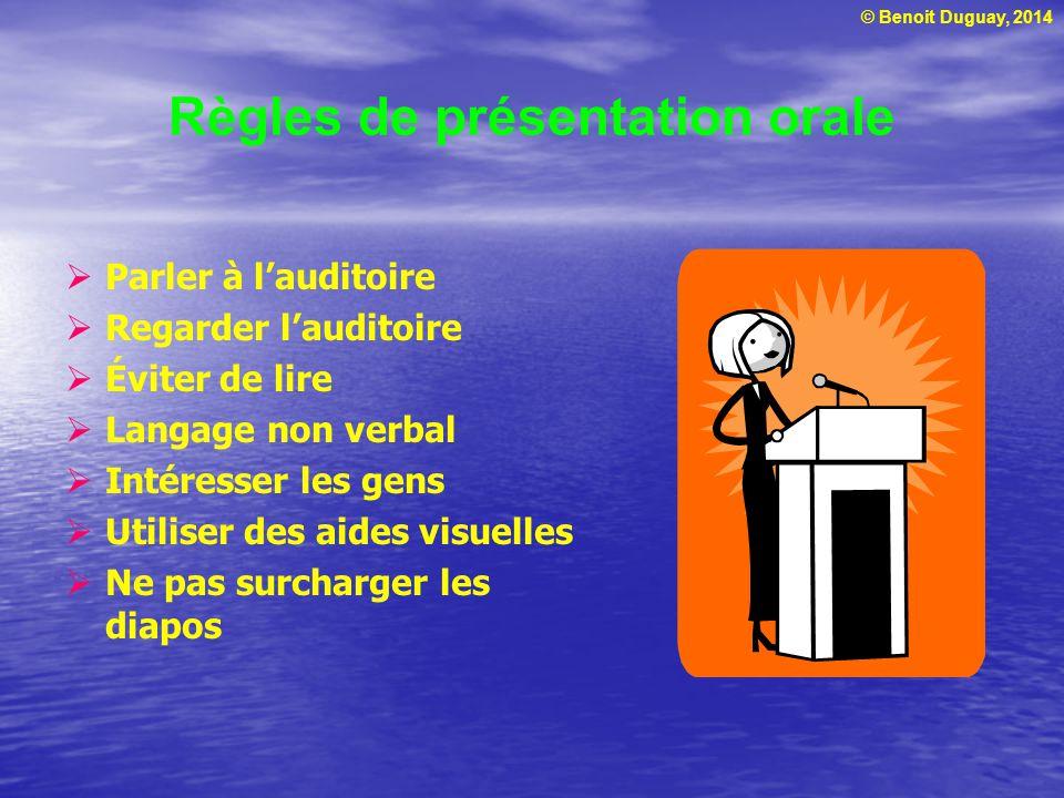 Règles de présentation orale