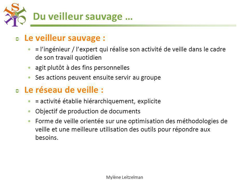 Du veilleur sauvage … Le veilleur sauvage : Le réseau de veille :