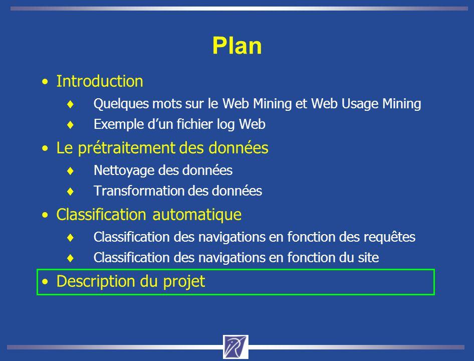 Plan Introduction Le prétraitement des données