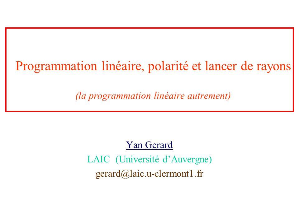 Yan Gerard LAIC (Université d'Auvergne) gerard@laic.u-clermont1.fr
