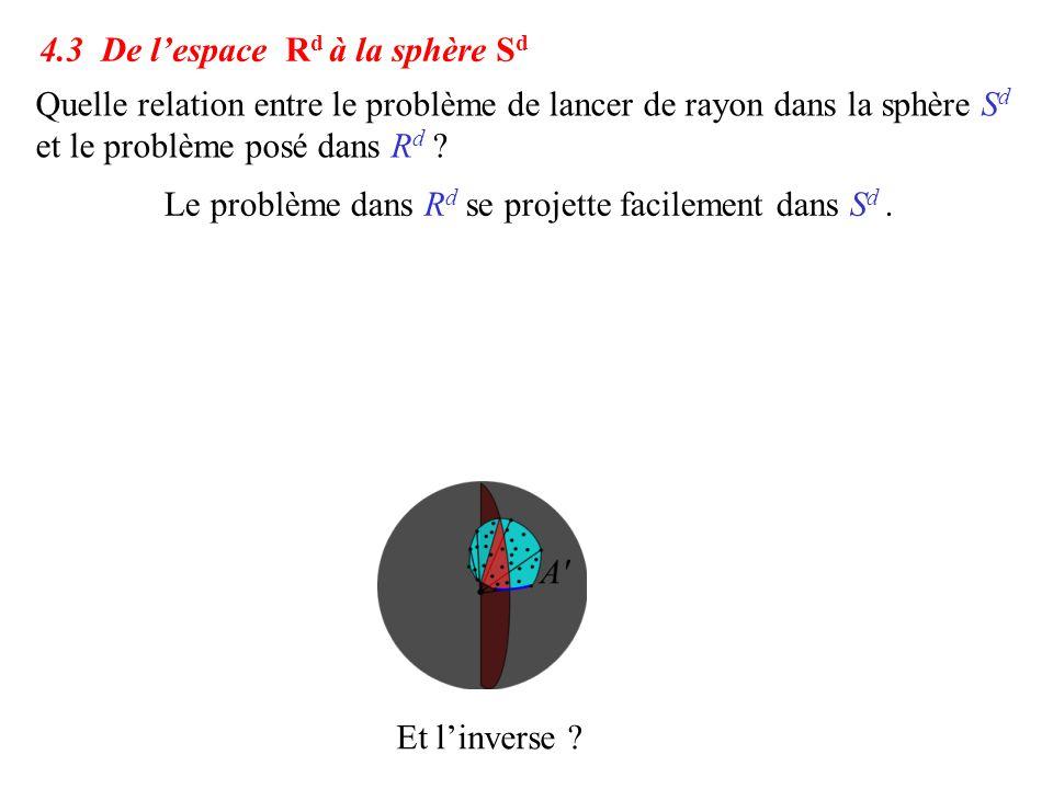 4.3 De l'espace Rd à la sphère Sd