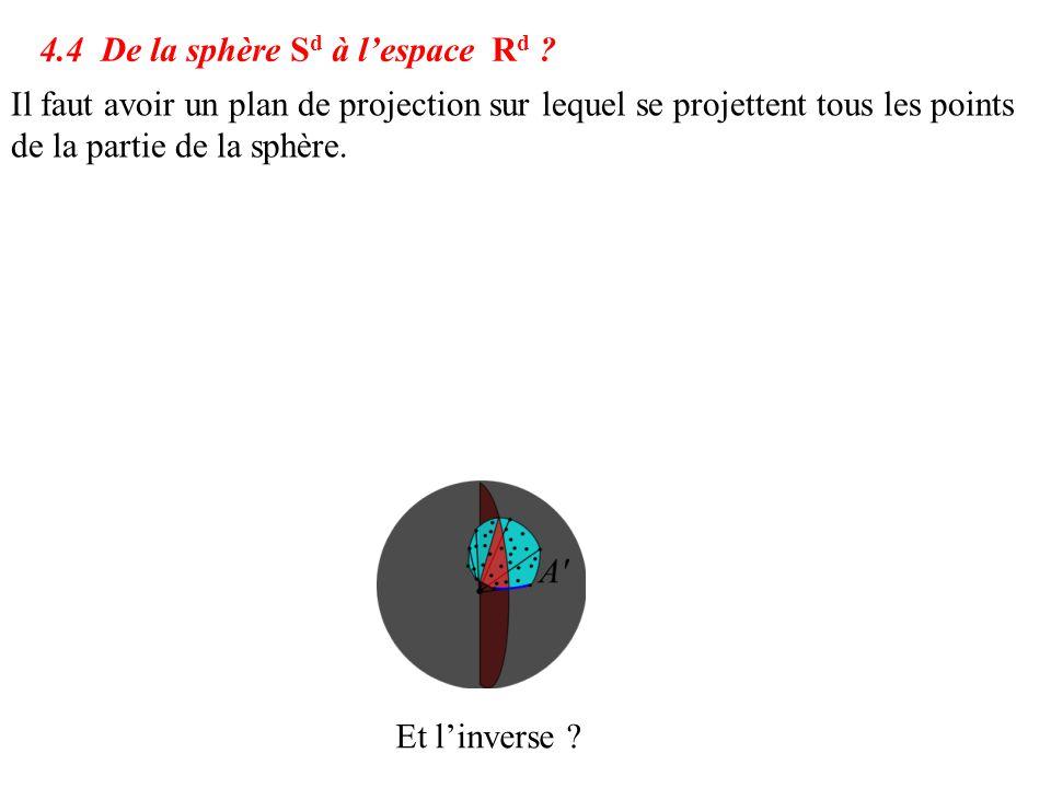 4.4 De la sphère Sd à l'espace Rd