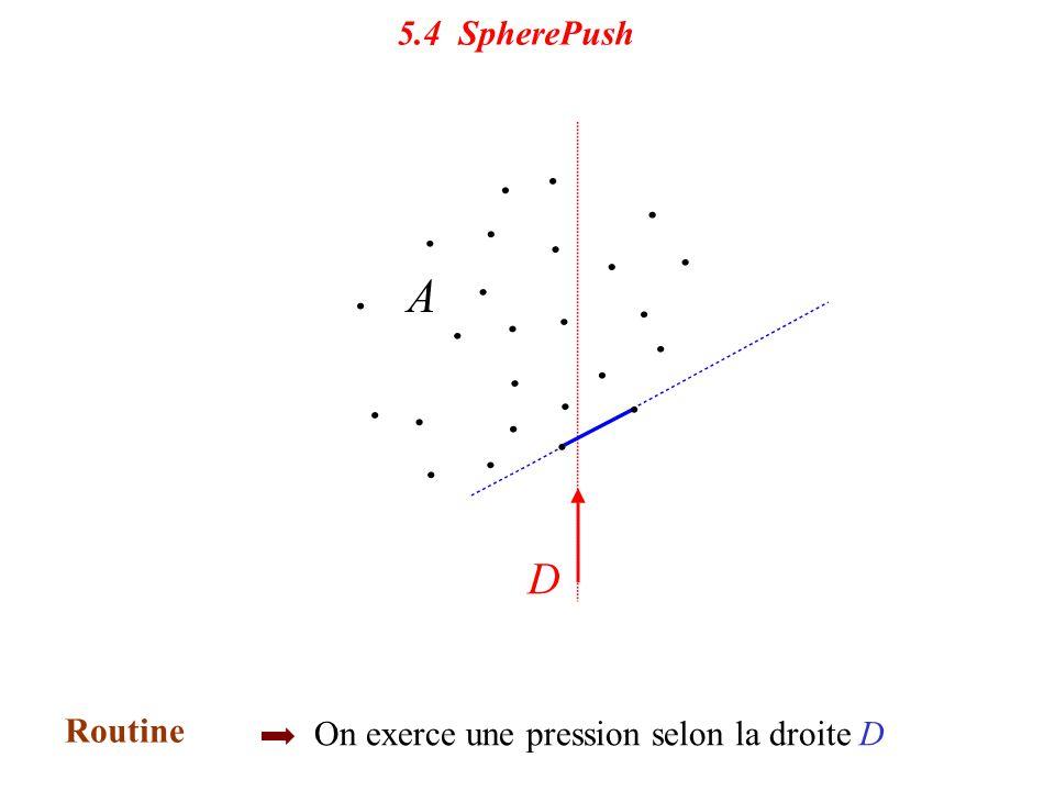 5.4 SpherePush 5.4 Sphere Push. Routine. Initialisation.