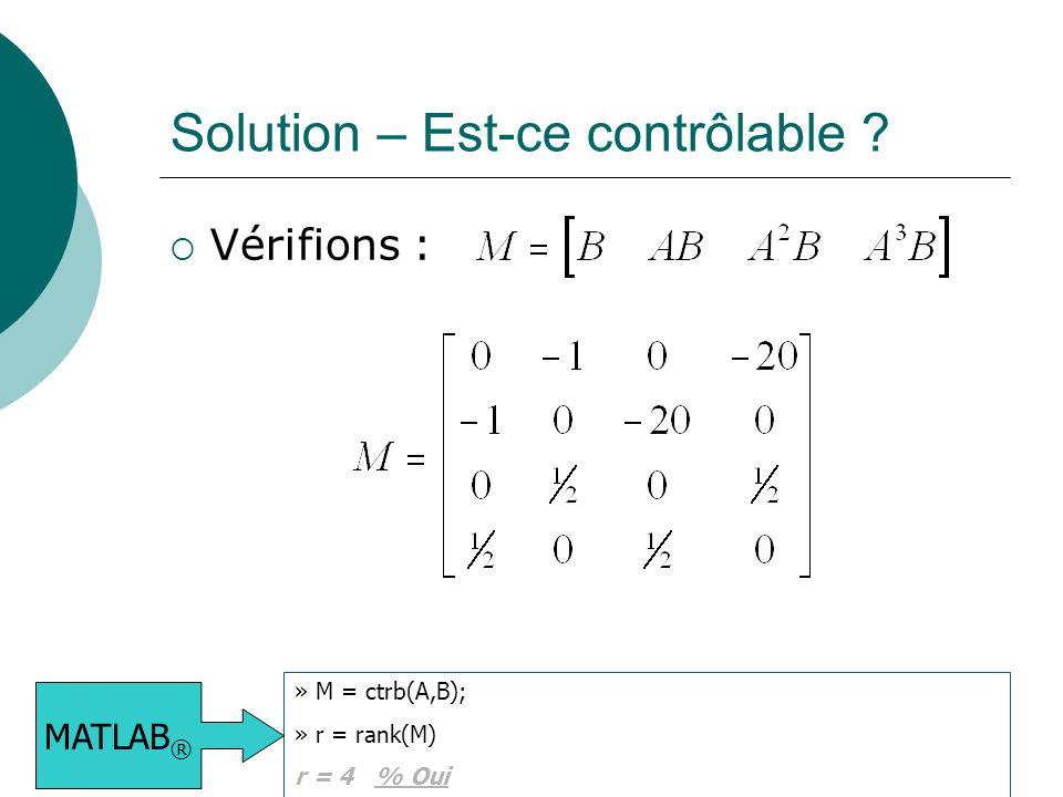 Solution – Est-ce contrôlable