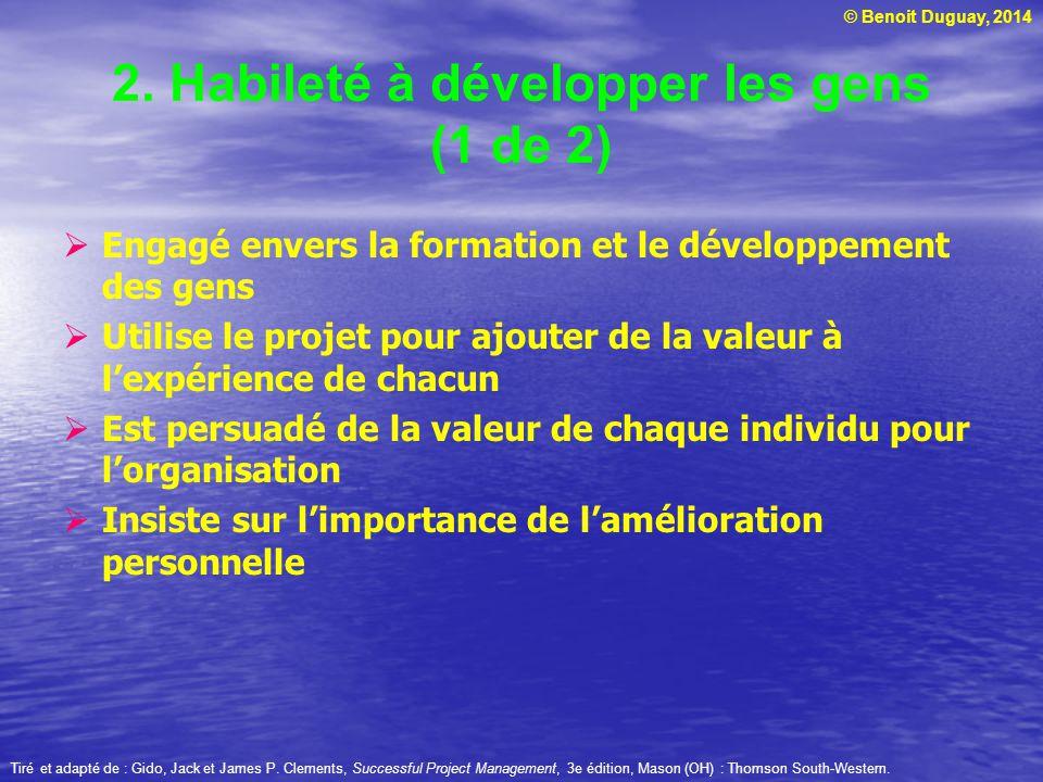 2. Habileté à développer les gens (1 de 2)