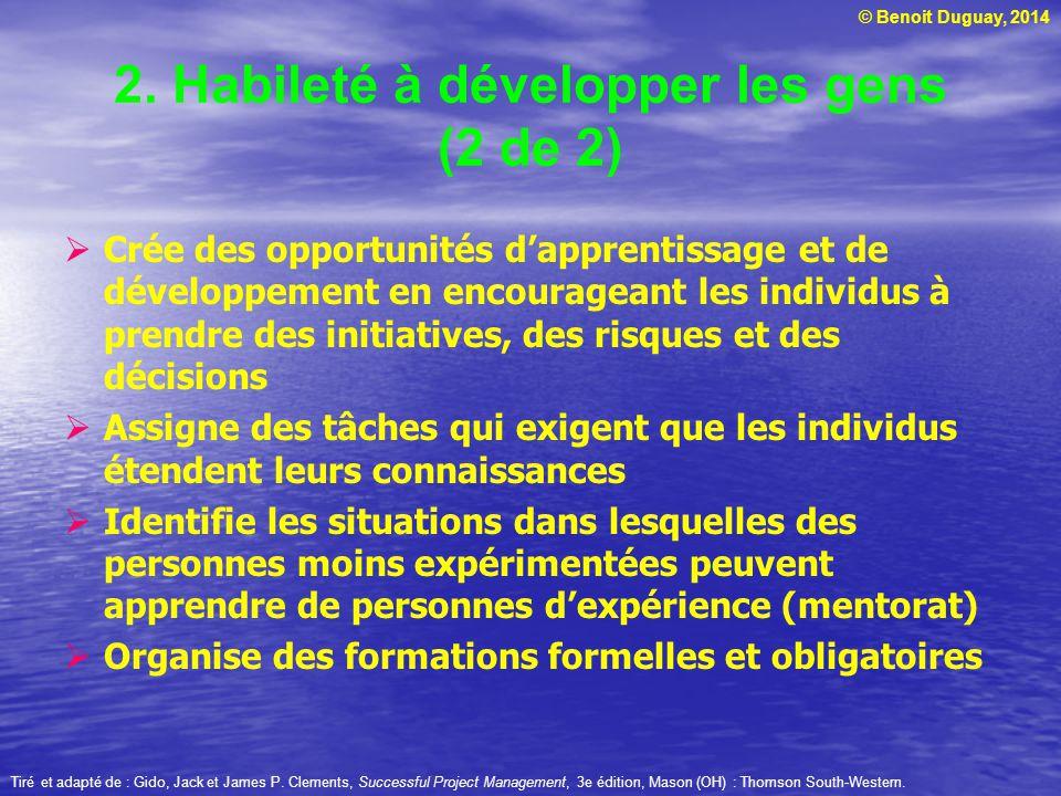 2. Habileté à développer les gens (2 de 2)