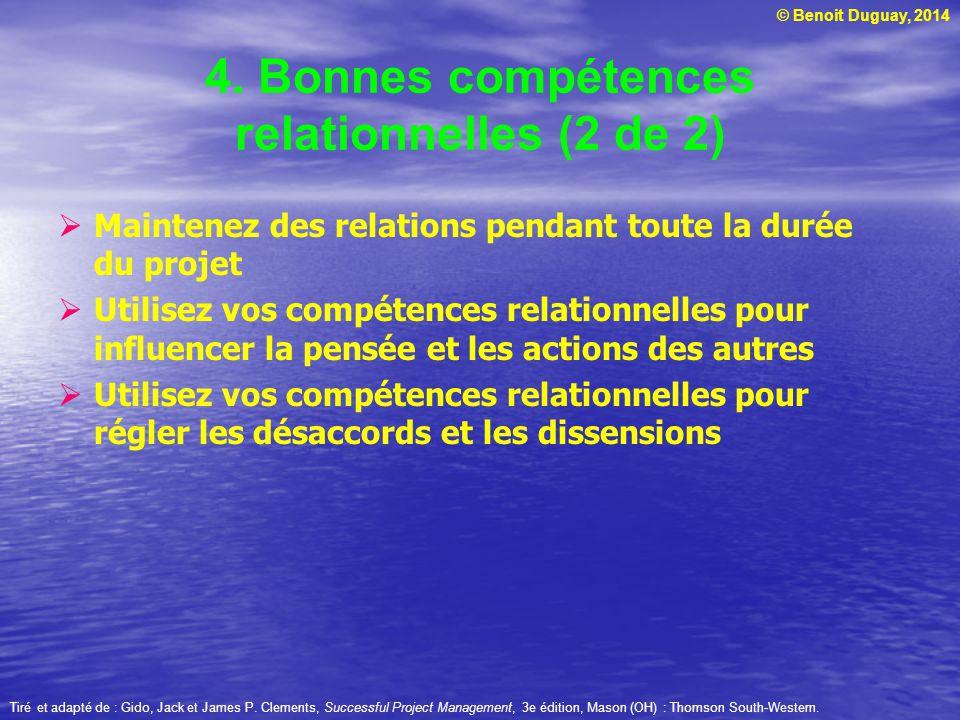 4. Bonnes compétences relationnelles (2 de 2)
