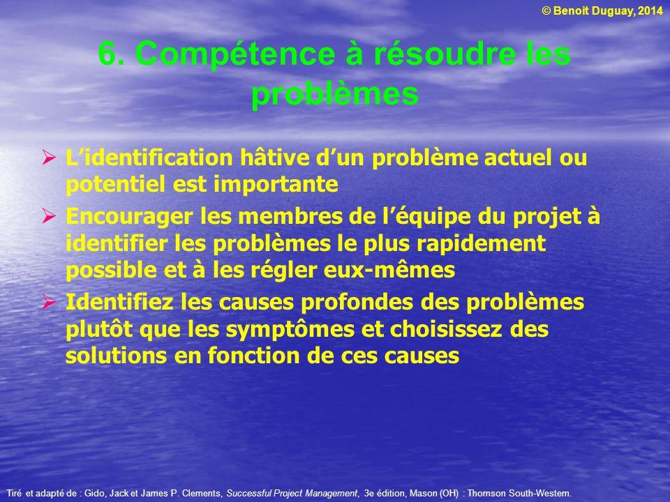 6. Compétence à résoudre les problèmes