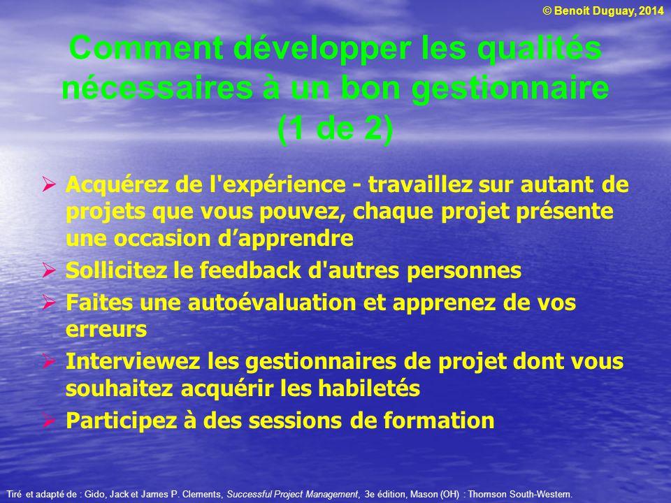 Comment développer les qualités nécessaires à un bon gestionnaire (1 de 2)