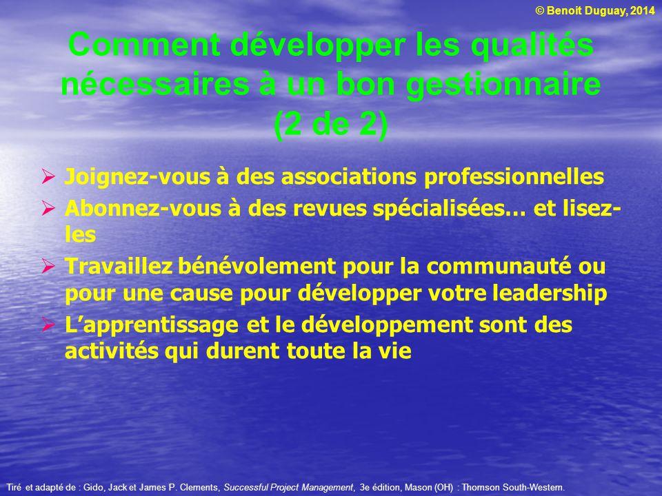 Comment développer les qualités nécessaires à un bon gestionnaire (2 de 2)