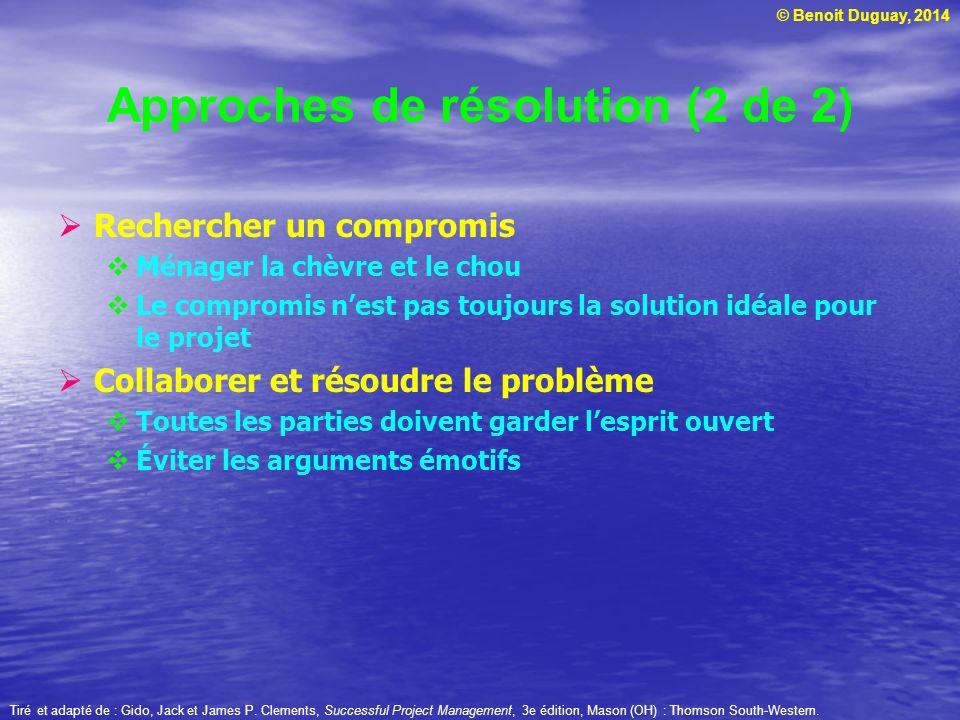 Approches de résolution (2 de 2)