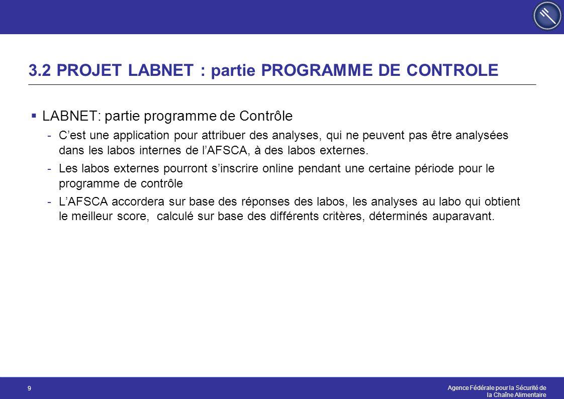 3.2 PROJET LABNET : partie PROGRAMME DE CONTROLE